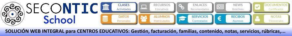 SECONTIC - Servicio web para la grestión de centros educativos y comunicación con familias.