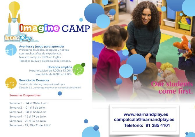 2019 learn and play imagine camp ingles verano cartel 670